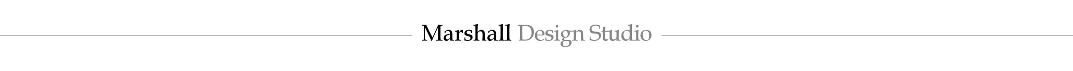 logo line for Marshall Design Studio